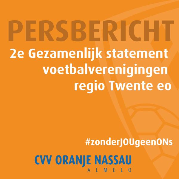 2e Gezamenlijk statement voetbalverenigingen regio Twente eo