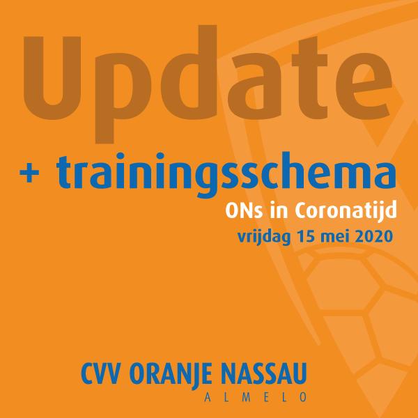 Update nieuw trainingsschema (18 mei t/m 5 juni)