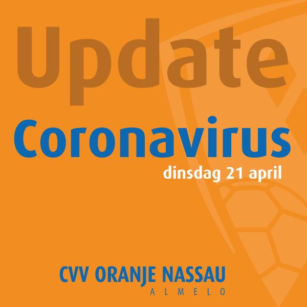 Update Coronavirus en maatregelen dinsdag 21 april