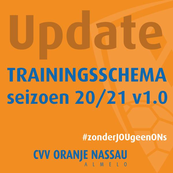 Trainingsschema seizoen 20/21 v1.0