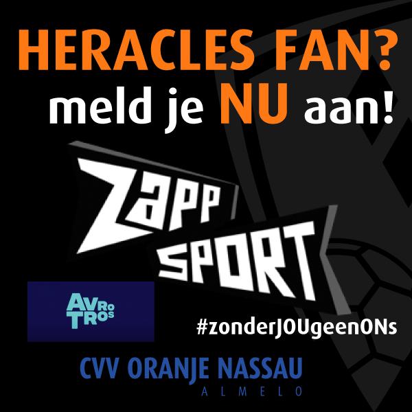 Heracles Fan meld je NU aan voor ZAPP SPORT!
