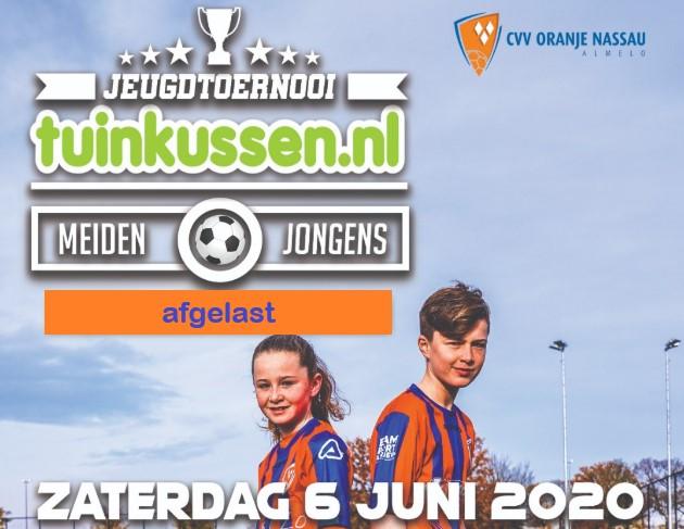 Tuinkussen.nl toernooi 2020 afgelast