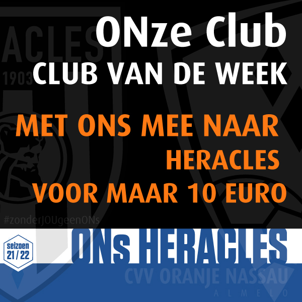 Ga je mee naar Heracles - NEC ? ONze club = Club van de week!