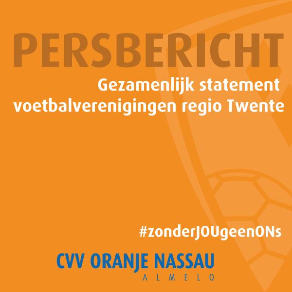 Gezamenlijk statement voetbalverenigingen regio Twente