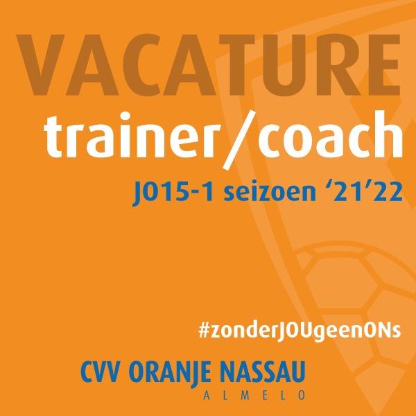 Vacature: trainer/coach JO15-1 seizoen 2021-2022