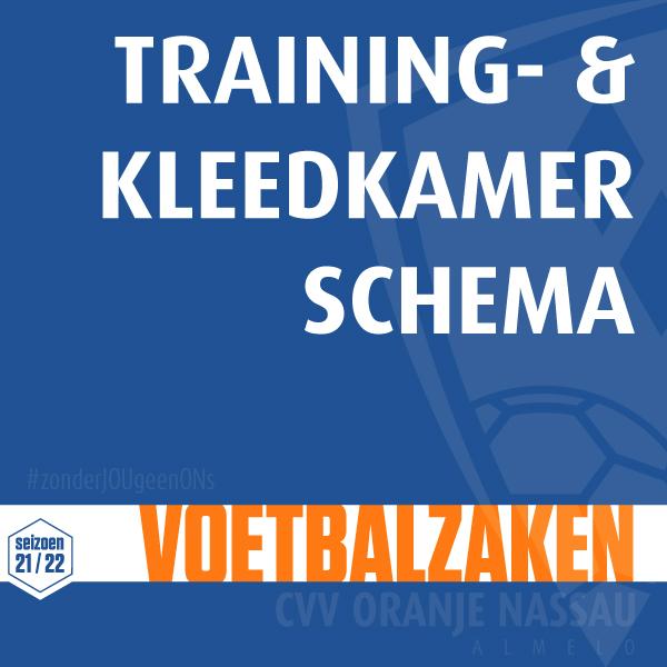 Training Schema met kleedkamerindeling